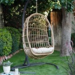 Hanging Patio Chair Teen Office Outdoor Resin Wicker Egg Swing Stand Hammock Big With And Cushion Porch Seat
