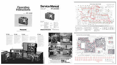 PANASONIC RF-2200 PHOTOCOPY OPERATING MANUAL + SERVICE