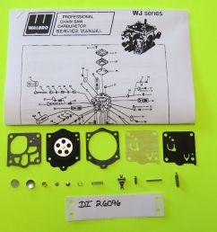 mcculloch chainsaw titan70 promac72 partner720 walbro wj23 carb kit k15 wj for sale online [ 1600 x 900 Pixel ]