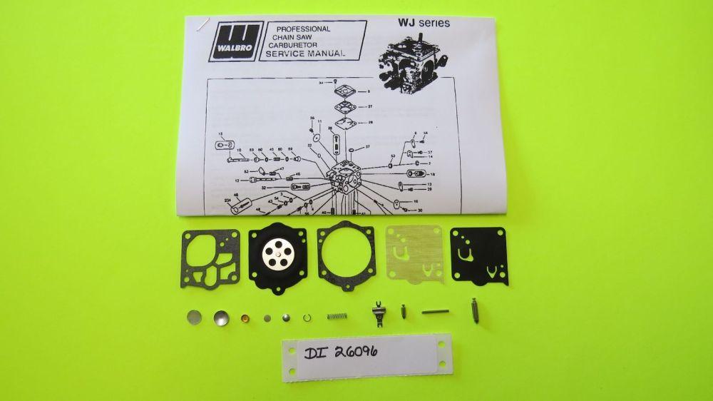 medium resolution of mcculloch chainsaw titan70 promac72 partner720 walbro wj23 carb kit k15 wj for sale online