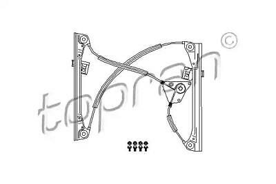 Manual Window Regulator Repair Kit LEFT FRONT 2DR Fits VW