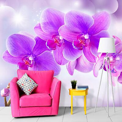 VLIES FOTOTAPETE Blumen Orchidee lila rosa TAPETE