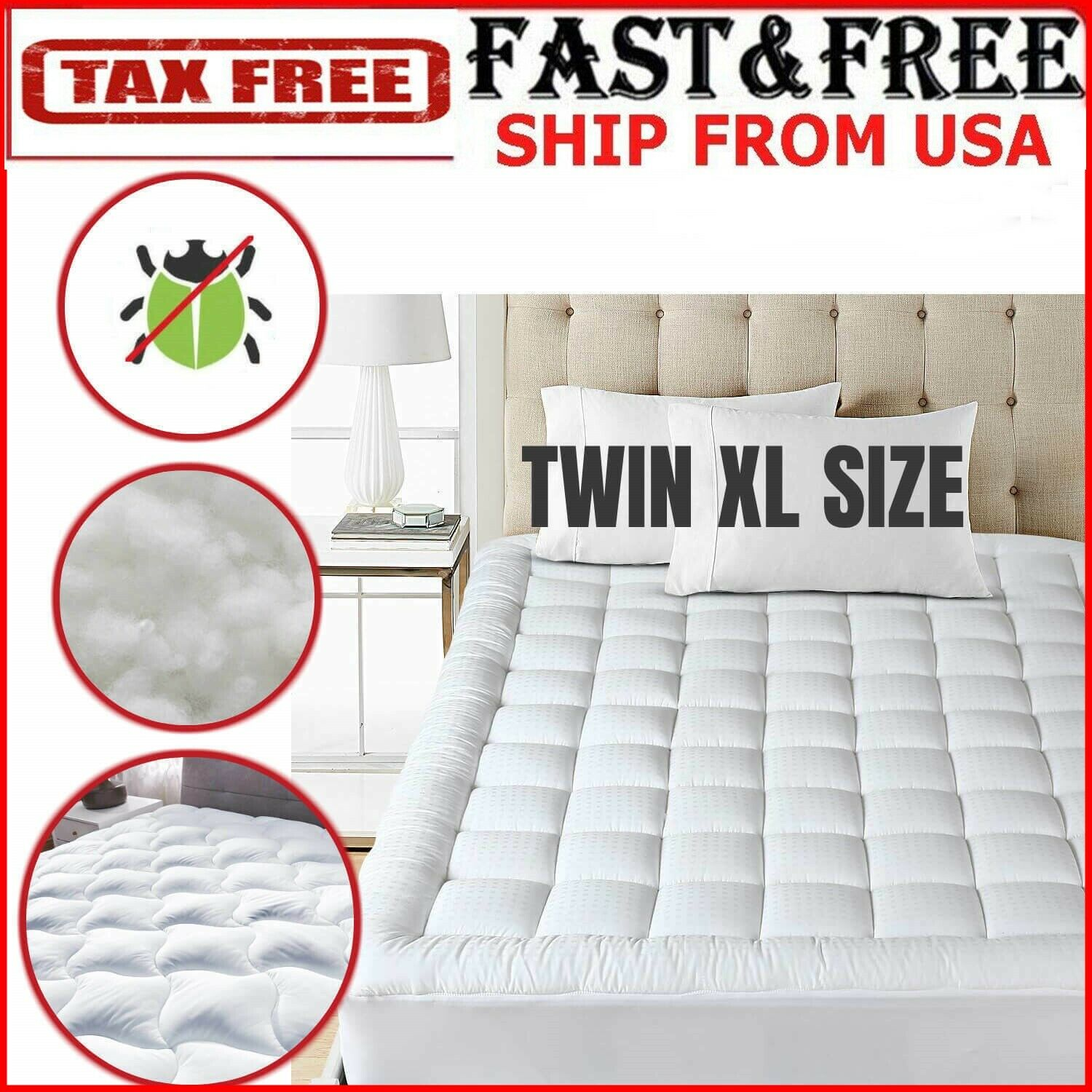 king size mattress pad cover snow down