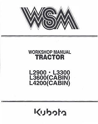 Kubota L2900-L3300-L3600-L4200 Tractor Service & Operators