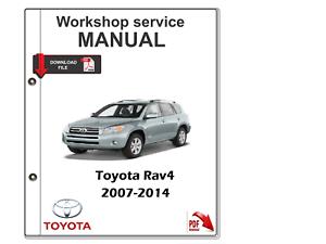 TOYOTA Rav4 2007- 2014 Manual de Taller de Servicio Manual