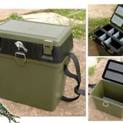 Fishing Roving Chair Kelly Green New Seatbox Fishingmad Tackle Seat Box 5055457204094 Image Is Loading