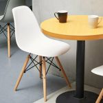 1er Skandinavisch Stuhle Mit Holzbeinen Wohnzimmer