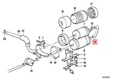 Genuine BMW E30 Cabrio Coupe Sedan Fuel Feed Filter Pump