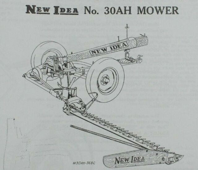 New Idea No 30AH Trailer Type PTO Driven Sickle Mower