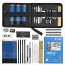 materiales para dibujar profesional kit set completo de todo nivel 35 piezas