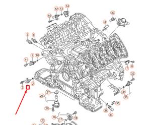AUDI A6 C7 4G Oil Temperature Sensor 079919525D NEW