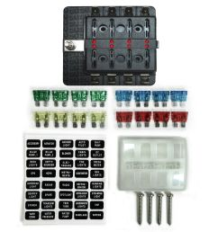 8 way 12v blade fuse box distribution block with leds semi truck rv8 way 12v blade [ 1600 x 1600 Pixel ]