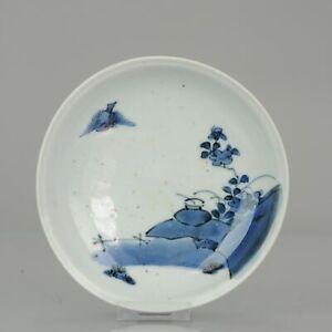 Ca 17th c Japanese Ko-Imari Porcelain Edo Period Dish Antique Japan