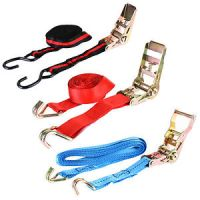 HEAVY DUTY RATCHET STRAPS TIE DOWN LUGGAGE CARGO TON TOOL ...