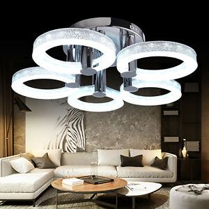 Image Is Loading European Modern Style Led Acrylic Chandeliers Ceiling Light