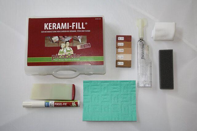 g61451 konig picobello ceramic tile stones repair kit filler terracotta colour