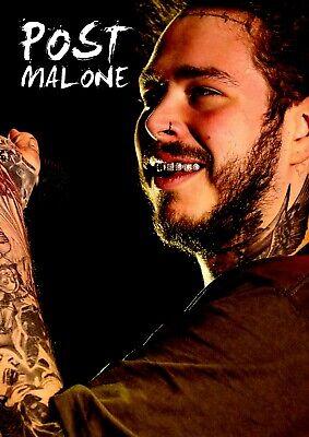 post malone poster retro effect 1 rapper legend a3 420mm x 297mm new ebay