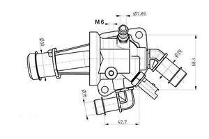 VALVOLA TERMOSTATICA FIAT PANDA (169) 1.3 D Multijet dal