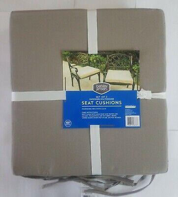 set of 2 indoor outdoor squared seat cushion berkley jensen new ebay