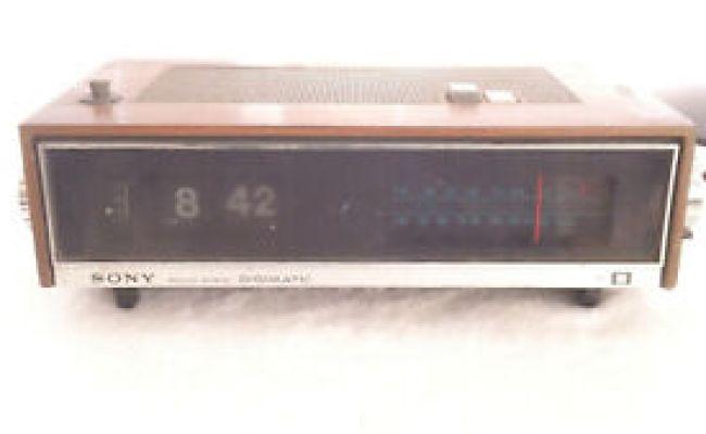 Vintage Sony Solid State Digimatic Am Fm Clock Radio Tfm