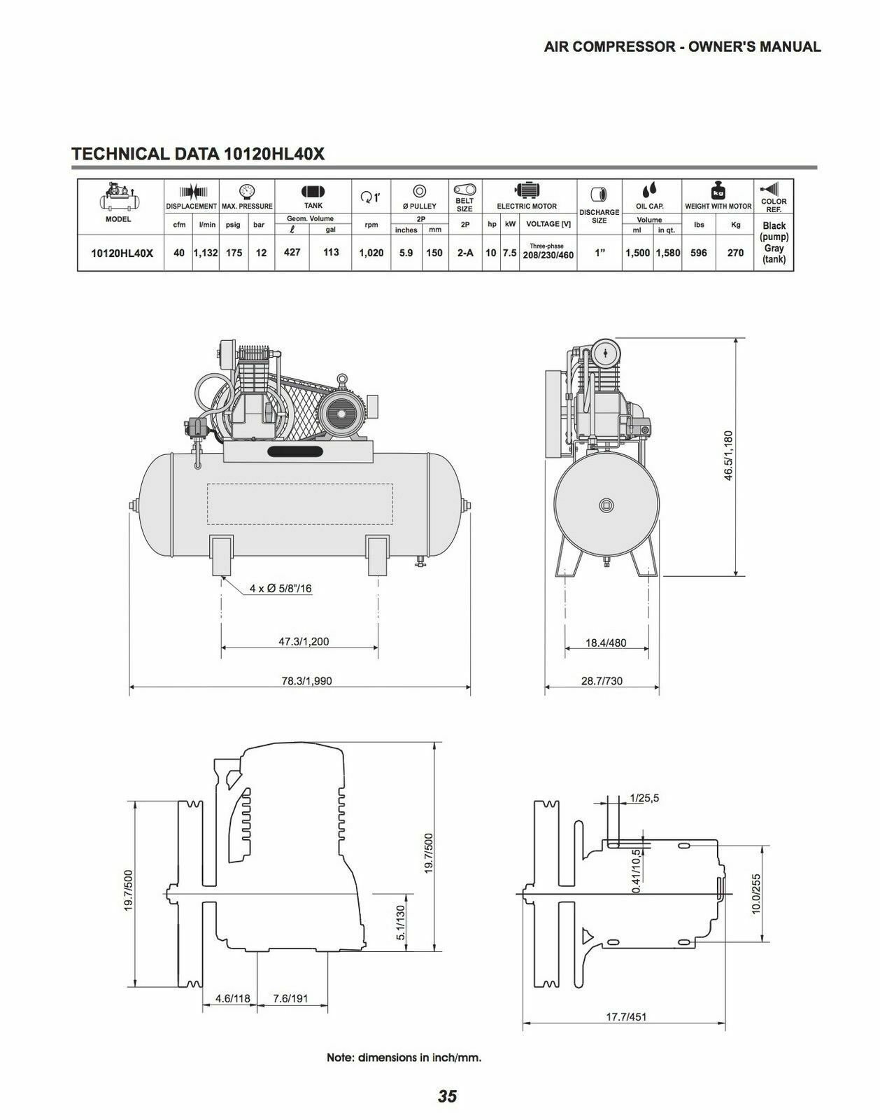 Complete Parts List Drawing For Ingersoll Rand Air