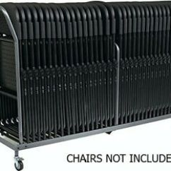 Folding Chair Dolly Zebco Fishing Vertical Storage 32 Folded Chairs Stacking Image Is Loading