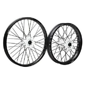 Tusk Wheel Set White Hubs 18/21 YAMAHA WR450F 2003-2017