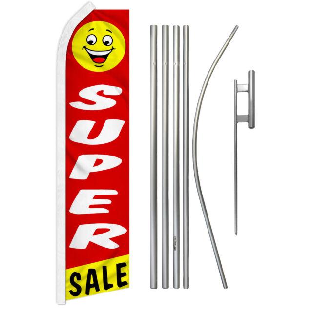 Super Sale Swooper Flutter Feather Advertising Flag Kit Gran Venta Rebajas | eBay