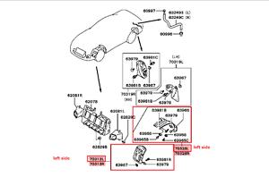 1994-1996 MITSUBISHI 3000GT FRONT LEFT SPLASH GUARD KIT