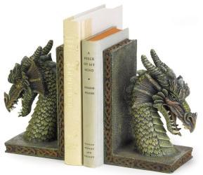 Mythical Fierce Guard Dragon Book Ends Fantasy Gothic Medieval Home Decor 37978 eBay