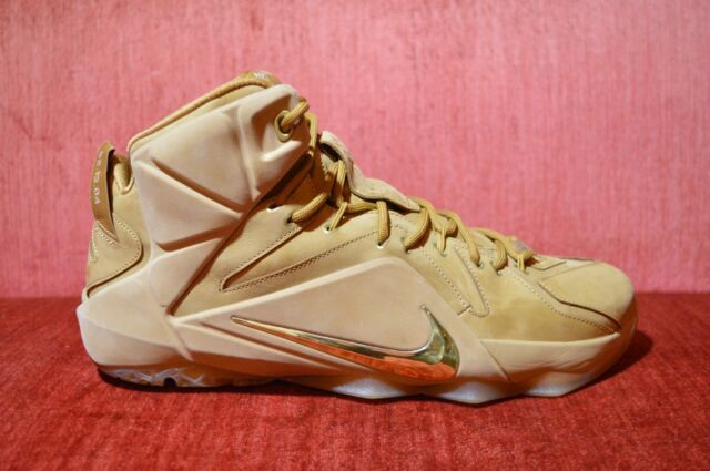 NEW Nike LeBron 12 XII EXT Wheat Size 12 744287-700 kyrie cork what the bhm NICE | eBay