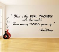 Vinyl Wall Decal Quote Real Trouble, Walt Disney Saying ...