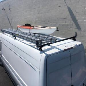 details about 3 bar ladder roof rack fits mercedes dodge sprinter 2007 on high roof ext black