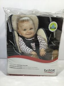 details about britax head and body support pillow iron gray