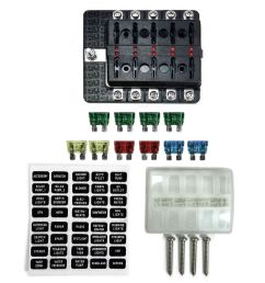 10 way 12v blade fuse box distribution block with led semi truck rv farm tractor [ 1600 x 1600 Pixel ]