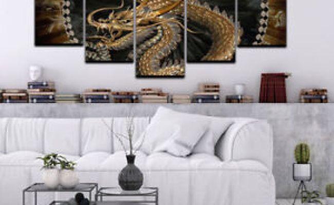 Modren Beautiful Hd Chinese Dragon Canvas Home Decor Wall