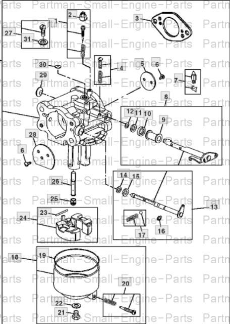 John Deere Gt245 Parts : deere, gt245, parts, Deere, Gt235, Carburetor, Part#, LG808725, Online