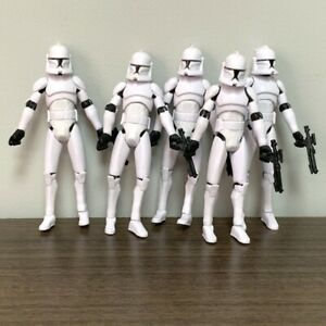 Lot 5x Star Wars No 5 Clone Trooper W Stands Guns Aciton Figures Collection Toy Ebay