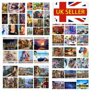 Diy Oil Acrylic Painting Kit Beginners Paint By Numbers Adult Children Frameless Ebay