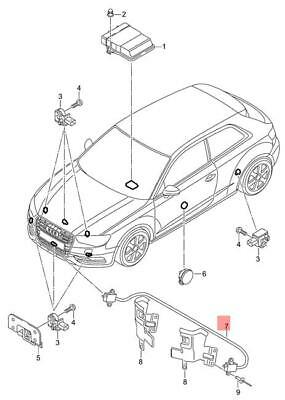 Genuine Pressure Sensor AUDI A3 S3 Sportback RS3 8V1