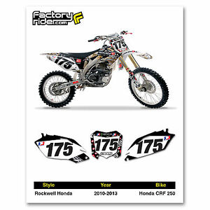 2010-2013 HONDA CRF 250 Team Rockwell Dirt Bike Graphics