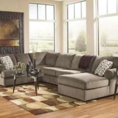 Large Living Room Sofas Luxurious Furniture Tampa Modern Brown Microfiber Sofa Couch Image Is Loading