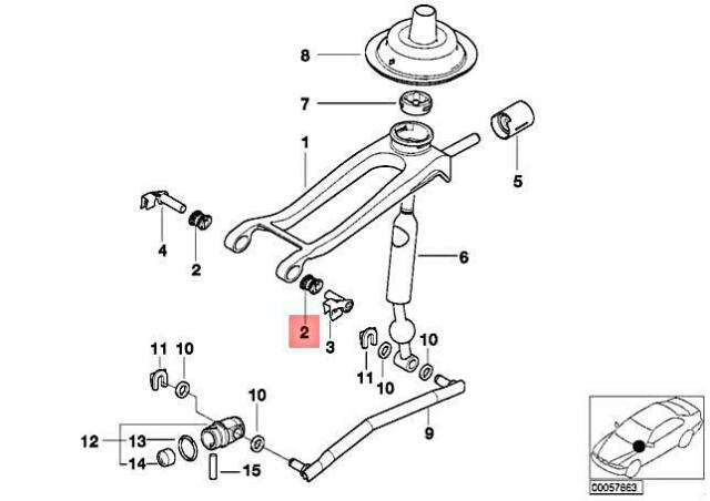 BMW E46 Gearshift Manual Transmission Bush Bearing Oval L