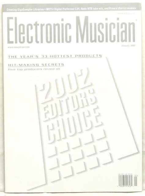 ELECTRONIC MUSICIAN MAGAZINE 2002 EDITORS CHOICE 33