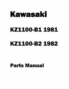 Kawasaki parts manual book 1981 KZ1100-B1 & 1982 KZ1100-B2