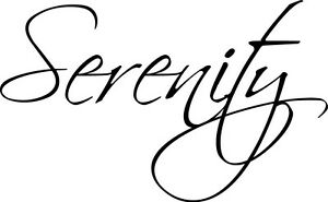 Serenity vinyl wall decal quote sticker decor