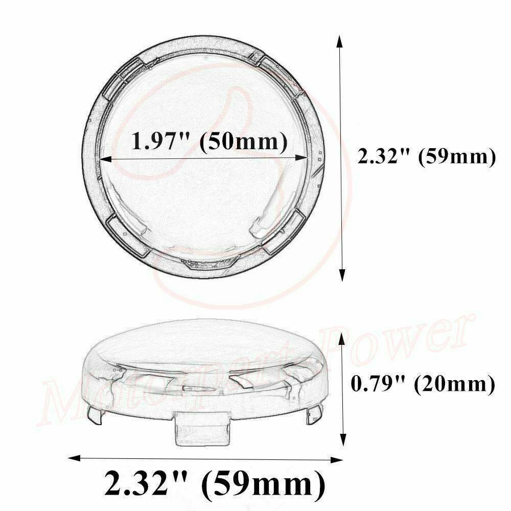 2 Pair Turn Signal Lens Cover Light Smoke Fit for Harley