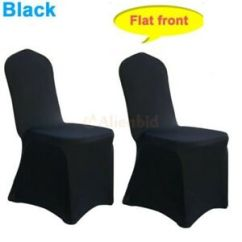 Black Chair Covers Ebay Modern Dining 200 Pcs Universal Polyester Spandex Fitted Arched Party Image Is Loading