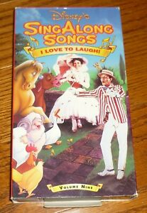 Disney Sing Along Songs I Love To Laugh : disney, along, songs, laugh, Disney's, Along, Songs, Video, Tape,, Laugh,, Used,, Songs!, 9781558900295