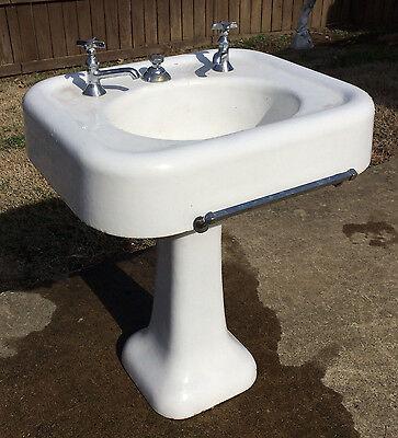 rare early 1900 s antique vintage seperate faucet kohler pedestal bathroom sink ebay